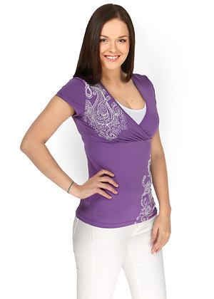 Lavender Stretch Maternity and Nursing T-Shirt