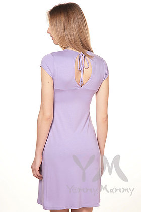 Summer Crepe Lavender Dress