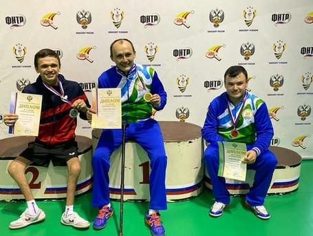 Серебро с Чемпионата России по настольному теннису