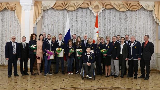 Награждение лучших спортсменов по итогам Паралимпийских Игр 2016