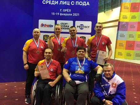 Сборная команда по пара-армрестлингу завоевала 6 медалей