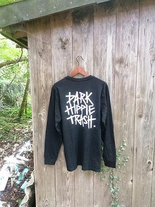 """dark Hippie trash"" longsleeve // black"