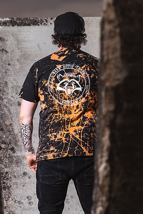 T-Shirt Waschbär (bleached-black)