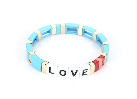 Bracelet- Colorful Love Blue
