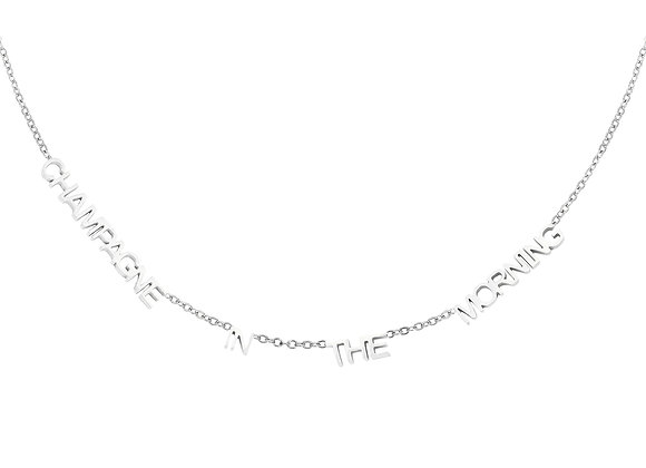 Necklace- Champagne Silver