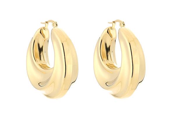 Earring- Chunky Hoops Gold
