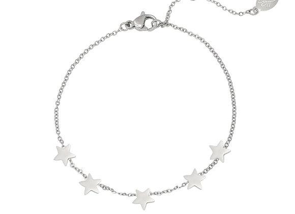 Bracelet- Silver Stars