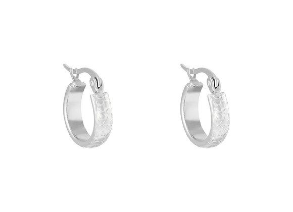 Earring- Leopard Silver
