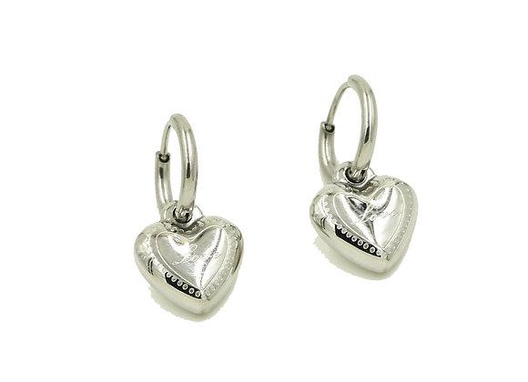 Earring- Silver Heart
