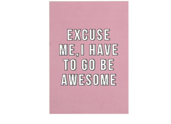 Postcard- Be Awesome