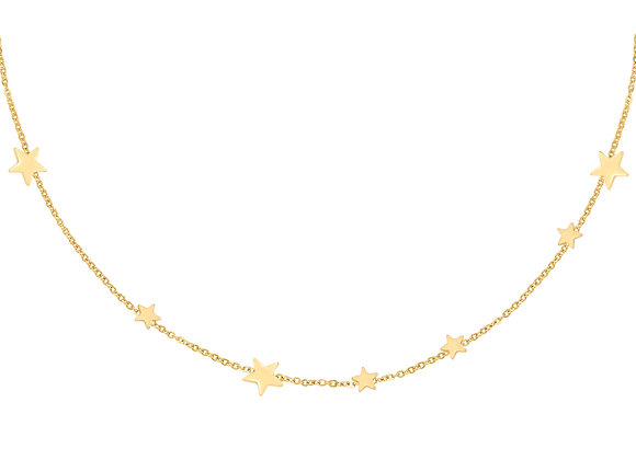 Necklace- Stars Gold