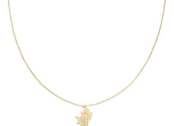 Necklace- Gold Lovely Shell