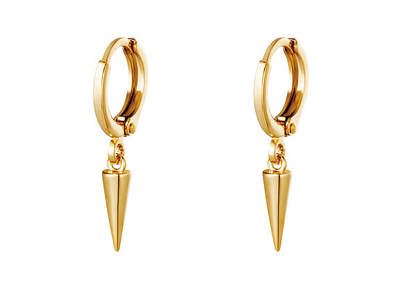 Earring- Golden Cone