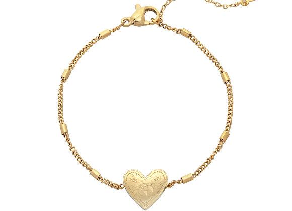 Bracelet- Gold Love to travel