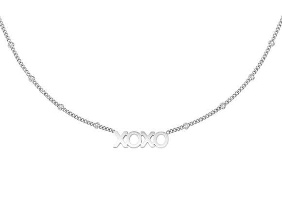 Necklace- XOXO Silver