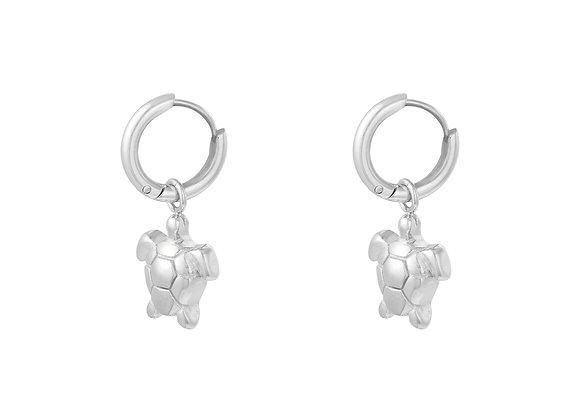 Earring- Silver Turtle