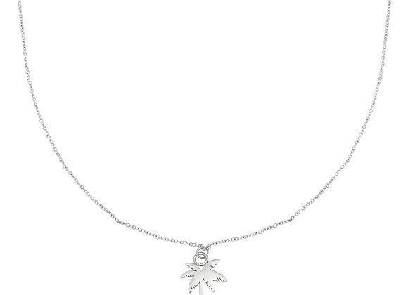 Necklace- Silver Palmtree