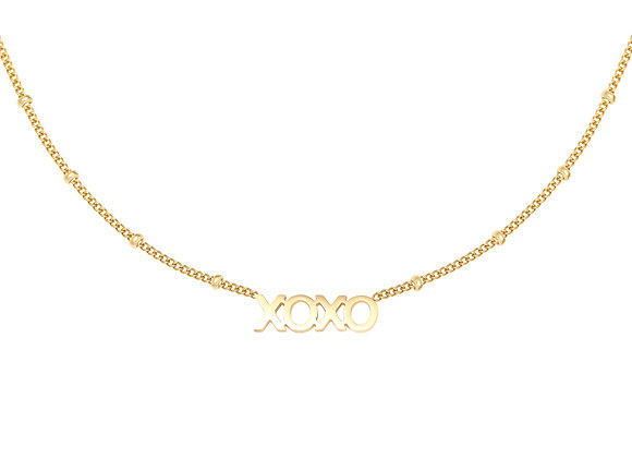 Necklace- XOXO Gold