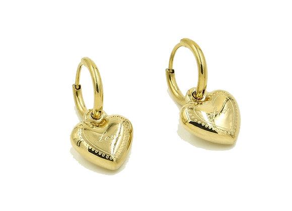 Earring- Gold Heart