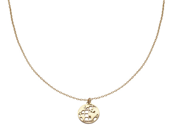 Necklace- Gold Around the globe