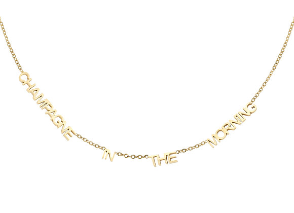 Necklace- Champagne Gold