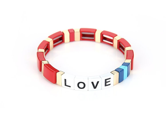 Bracelet- Colorful Love Red