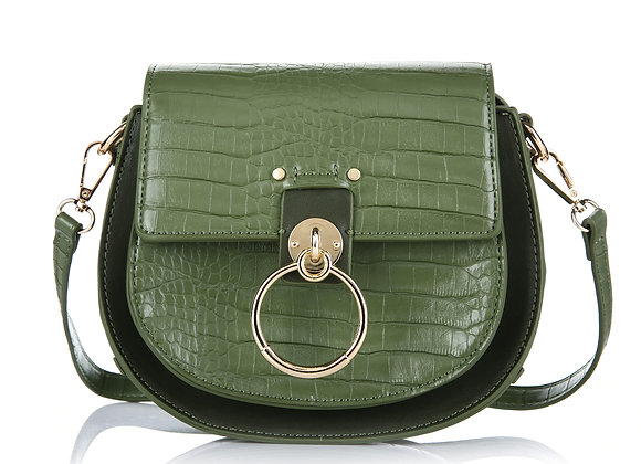 Crossbody- Green Croco