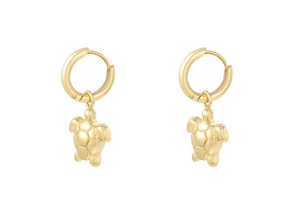 Earring- Gold Turtle