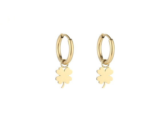 Earring- Gold Lucky Charm