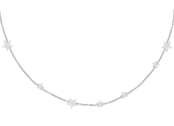 Necklace- Stars Silver