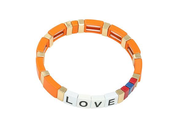 Bracelet- Colorful Love Orange