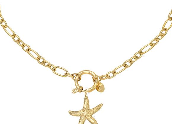 Necklace- Golden Starfish