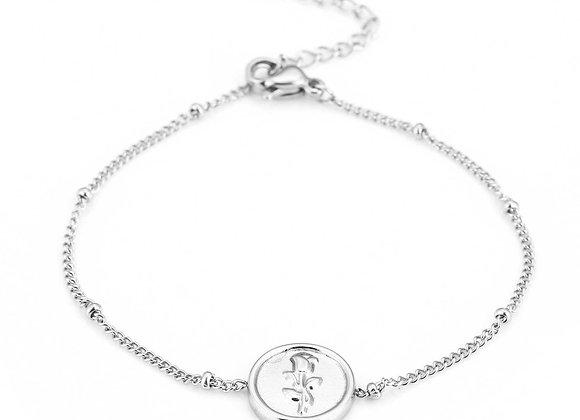 Bracelet- Silver Rose
