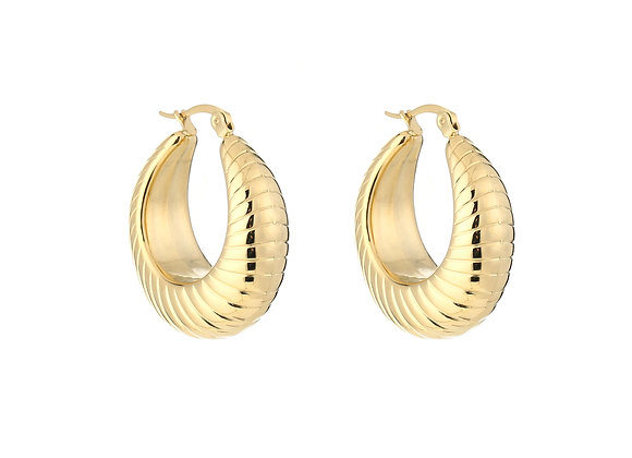 Earring- Small Twist Gold