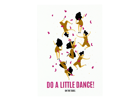 Postcard- Do a little dance