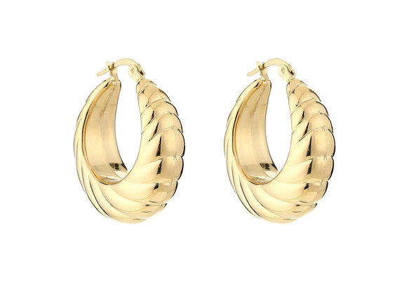 Earring- Twisted Gold