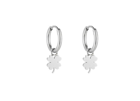 Earring- Silver Lucky Charm