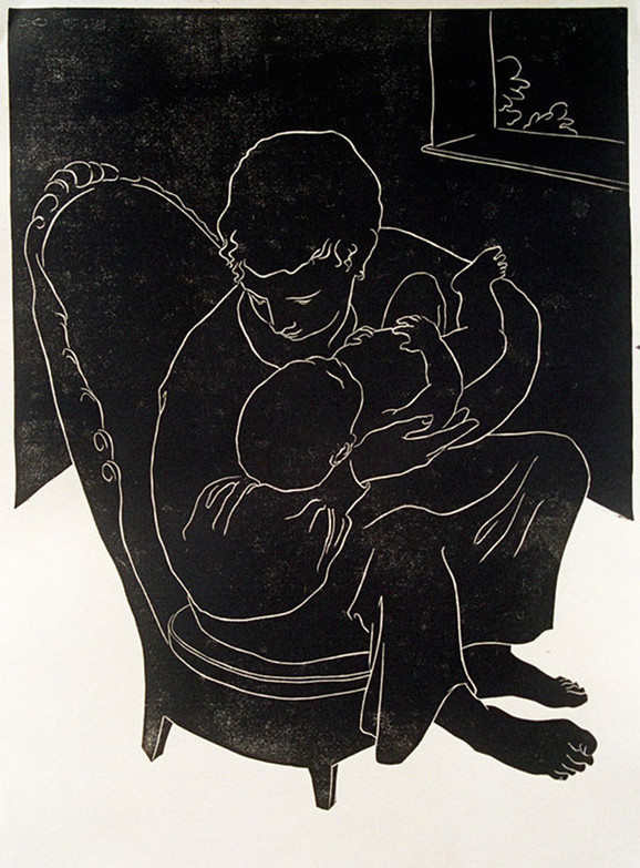 Mother and Child in a Chair