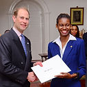 Gold Award Participant wiith HRH the Earl of Essex