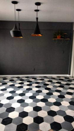 Mosaico de pasta Hexagonal