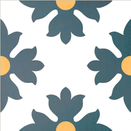 Mosaico de pasta Modelo Flores.
