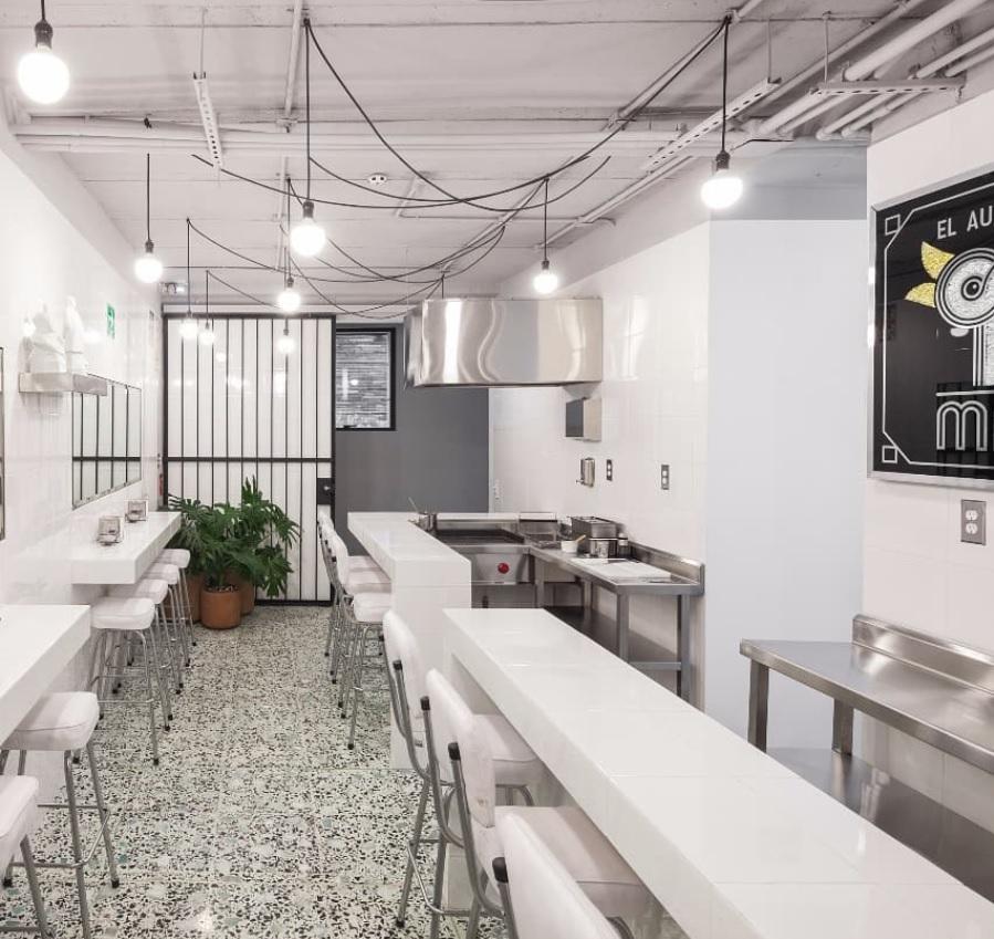 Terrazo verde Restaurante de Pato