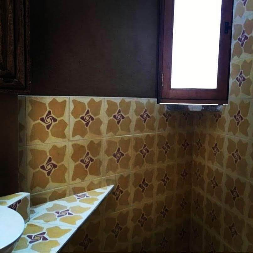 Mosaico de pasta Flor Roca