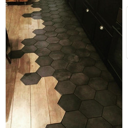 Mosaico de pasta Hexagonal Negro