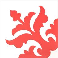 Mosaico de pasta Flor Roja