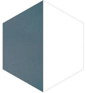 Mosaico de pasta Hexagonal Media