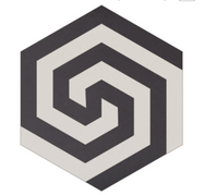 Mosaico de pasta Hexagonal  Laberinto