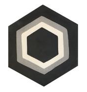 Mosaico de pasta Hexagonal  Panal 3 Lineas