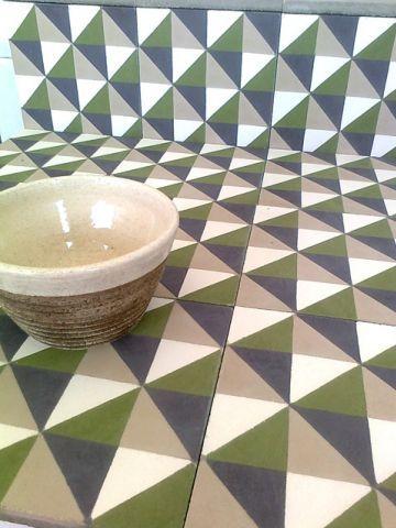 Mosaico de pasta diagonal