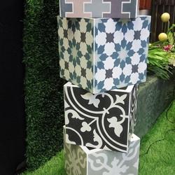 Maceta de mosaico de pasta